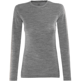 Icebreaker Sprite LS Crew Shirt Women gritstone heather